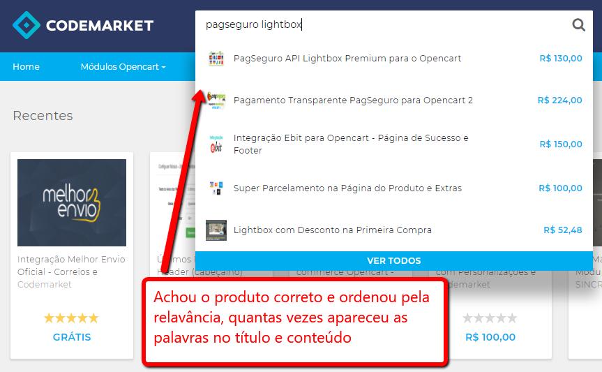Lançamento! Codemarket inova com novo sistema de busca inteligente!