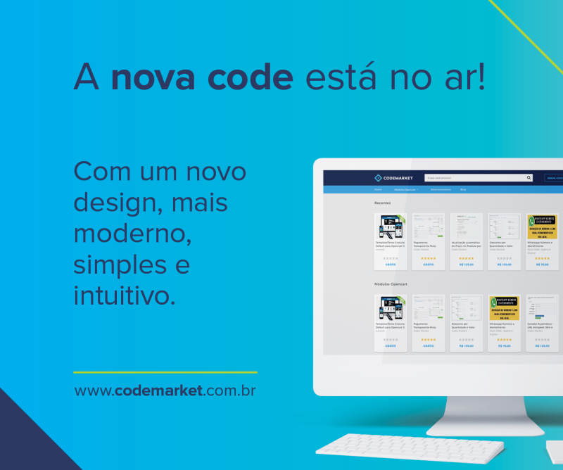 Nova Codemarket e nova identidade visual