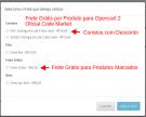 Frete Grátis por Produto para Opencart