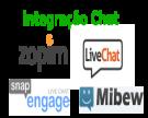 Integração de Chat - Zopim, Mibew, LiveChat, Snapengage, Live Helper Chat...