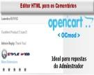 Editor HTML para os Comentários - Ideal para resposta do administrador
