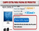 Campo Extra para Página de Produto - vQmod/Ocmod