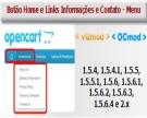 Botão Home - Link Informações e Contato no Menu Principal