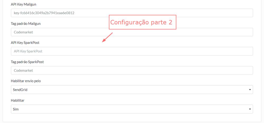 Super Envio de E-mail API - SendGrid, Mandrill, Mailgun e SparkPost Opencart - Foto 4