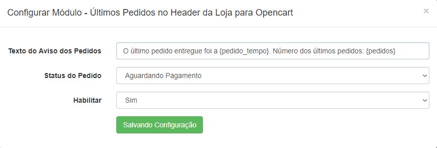 Últimos Pedidos no Header (cabeçalho) Opencart - Foto 1