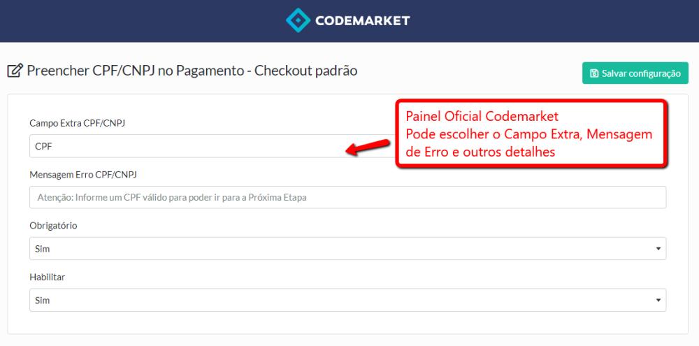 Preencher CPF/CNPJ na etapa Pagamento do Checkout padrão Opencart - Foto 4