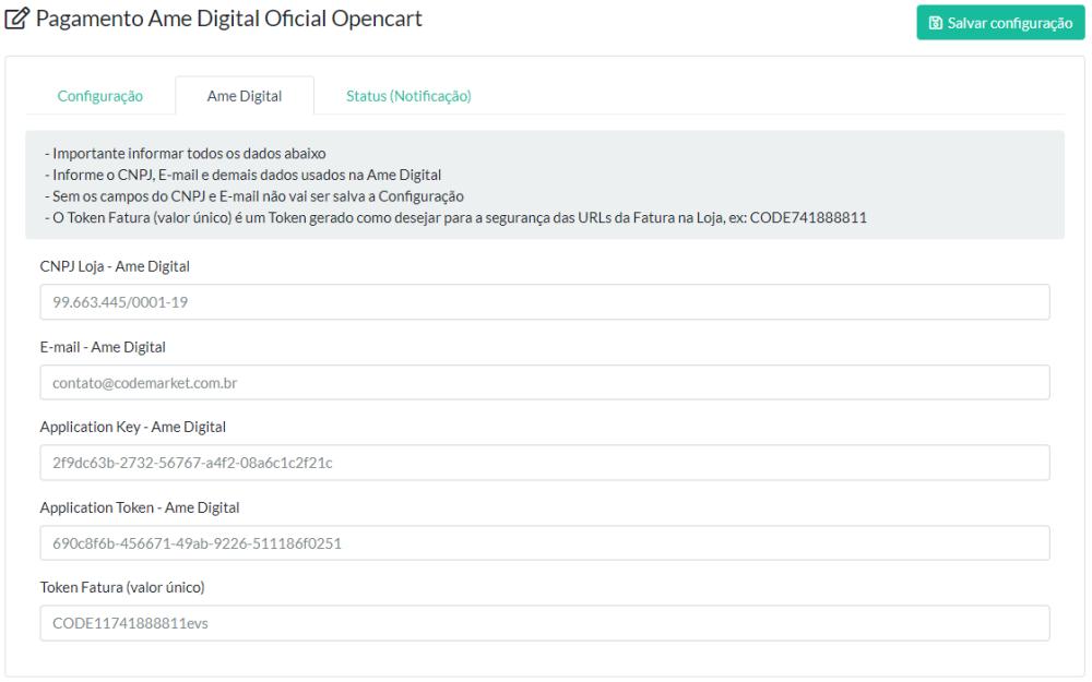 Pagamento Ame Digital Oficial Opencart - Foto 3