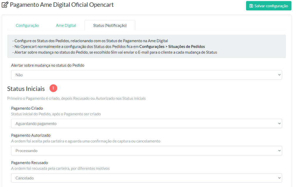 Pagamento Ame Digital Oficial Opencart - Foto 4