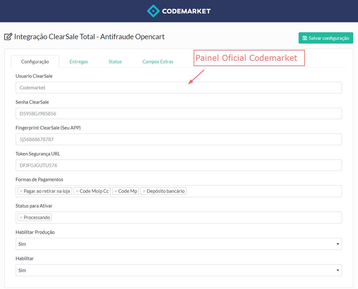 Integração ClearSale Total - Antifraude Opencart - Foto 2
