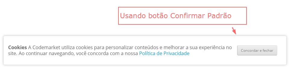 Aviso de Cookie e Política de Privacidade LGPD e GDPR Opencart - Foto 2