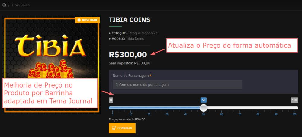 Atualização automática do Preço no Produto por Barrinha Opencart - Foto 2
