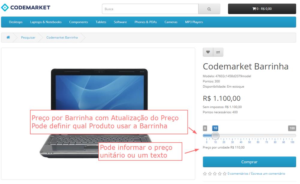 Atualização automática do Preço no Produto por Barrinha Opencart - Foto 1