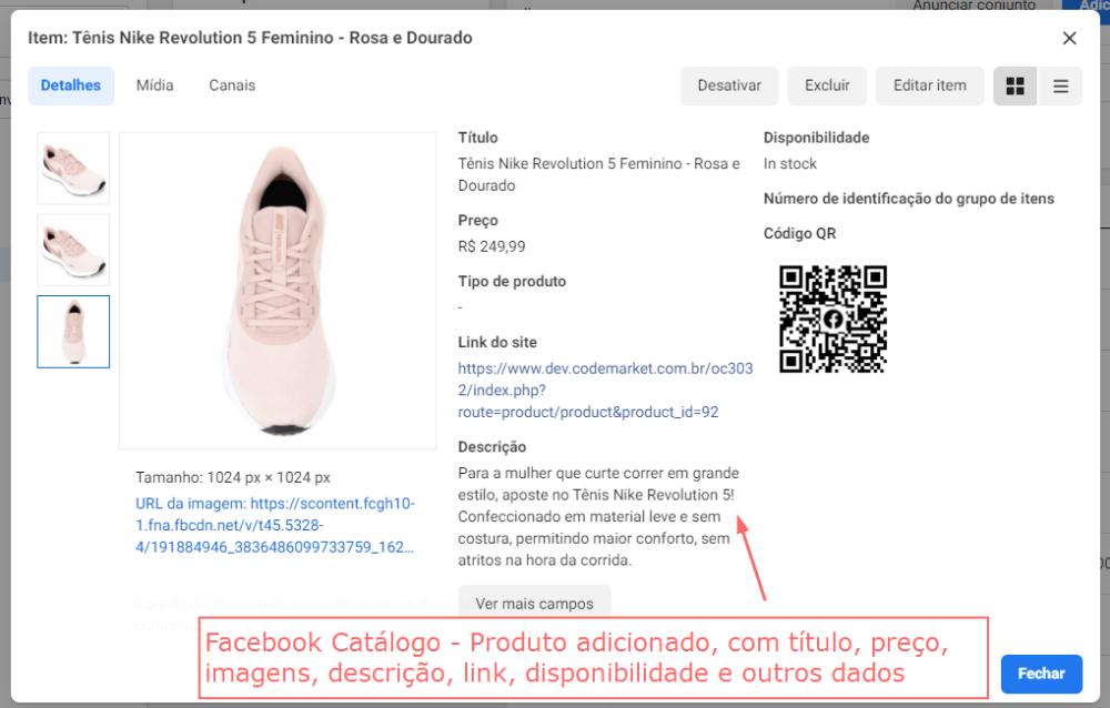 Facebook e Instagram Catálogo - Feed de Produtos Opencart - Foto 3