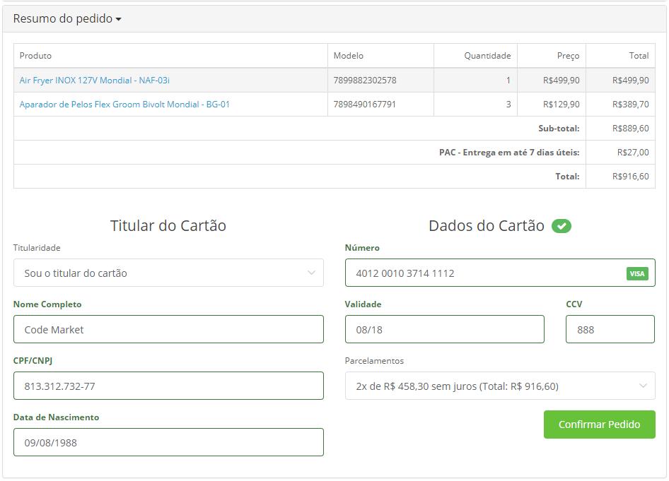 Módulo de Pagamento Wirecard (Moip) Opencart Checkout Oficial - Foto 1