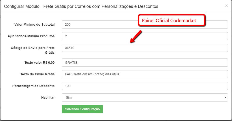 Frete Grátis por Correios com Personalizações e Descontos para Opencart - Foto 1
