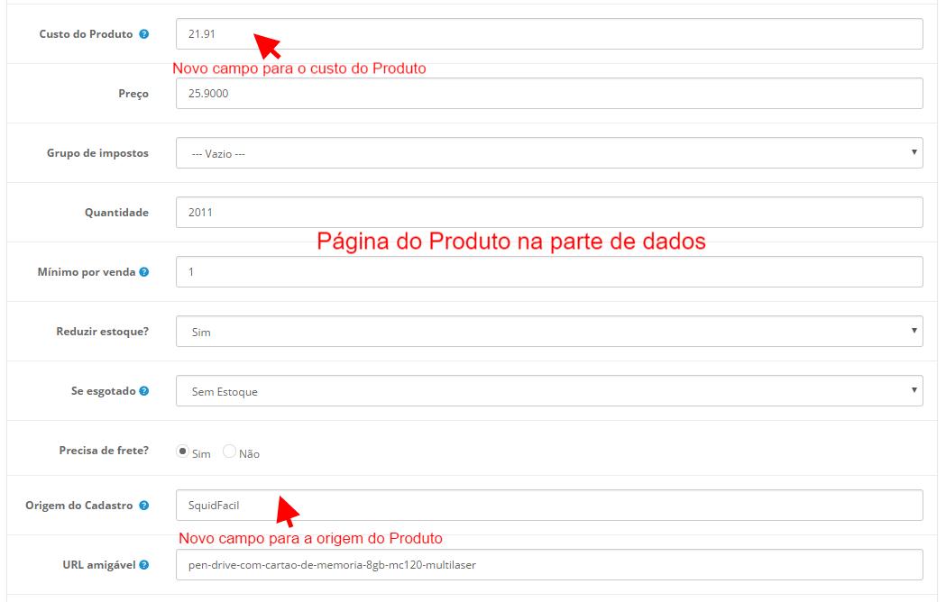Integração Squid Fácil Premium - Importação, Cálculo de Frete e Pedidos para Opencart 2 - Foto 2