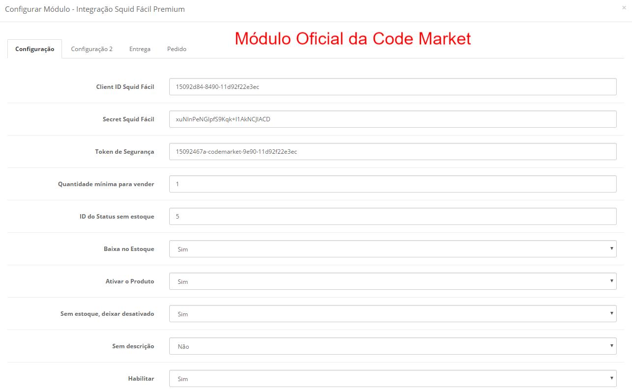 Integração Squid Fácil Premium - Importação, Cálculo de Frete e Pedidos para Opencart 2 - Foto 1
