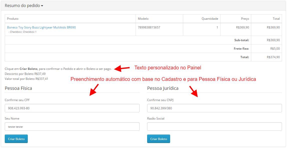 Boleto Gerencianet Premium para Opencart 2 - Foto 4