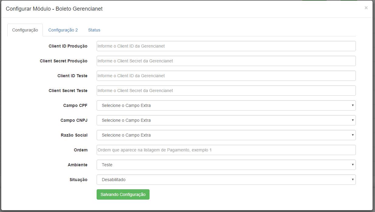Boleto Gerencianet Premium para Opencart 2 - Foto 3
