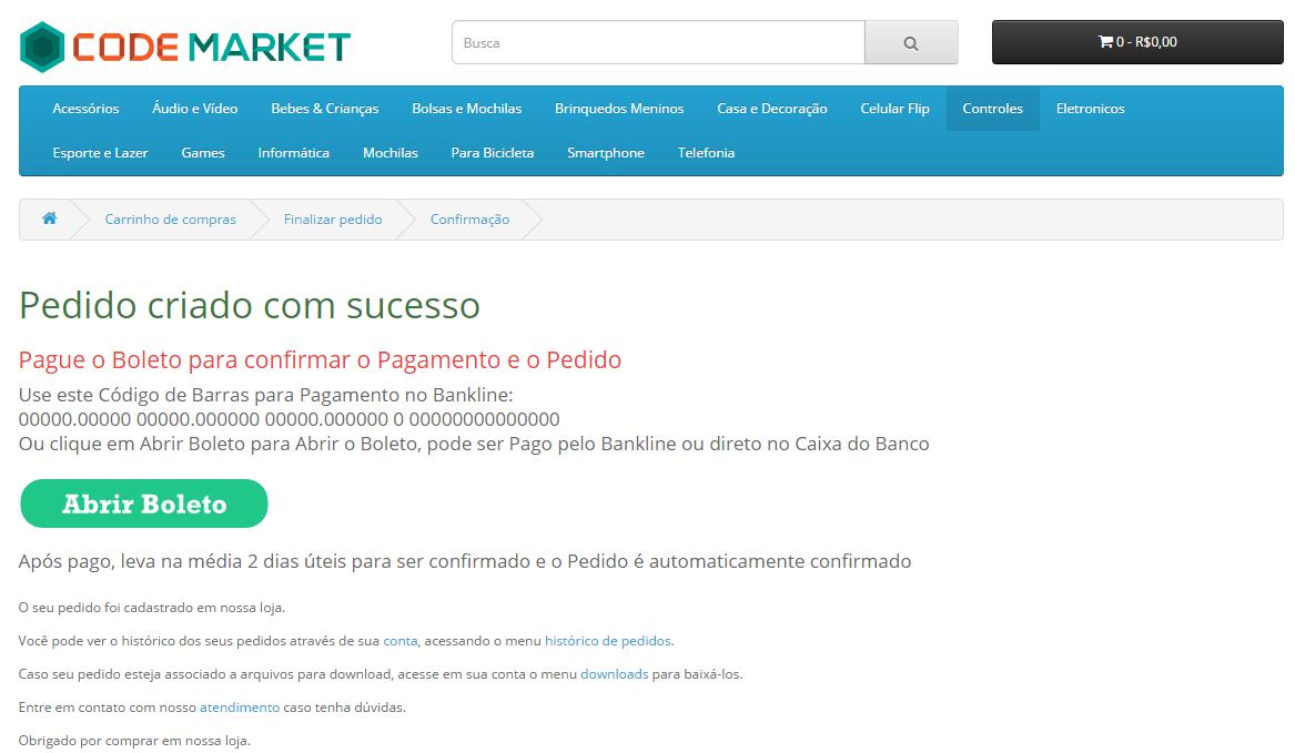 Boleto Gerencianet Premium para Opencart 2 - Foto 2