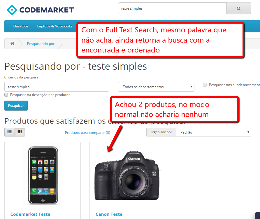 Busca Inteligente Full-Text Search Opencart - Foto 2