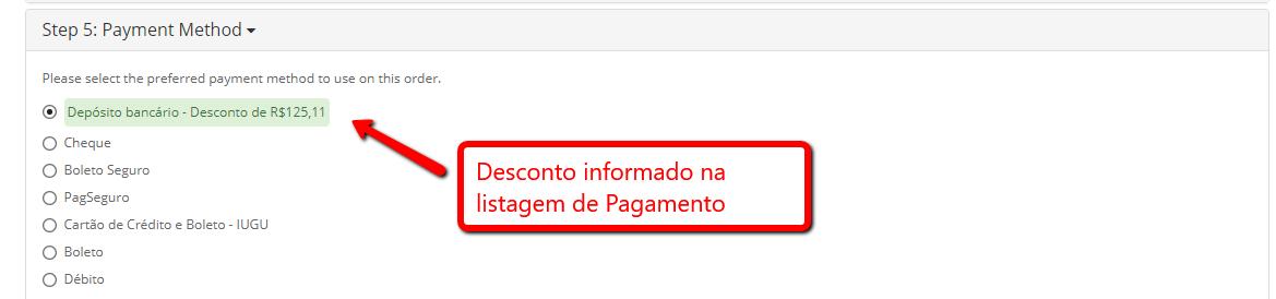 Desconto Premium - Forma de Pagamento, Produto e Quantidade para Opencart - Foto 3