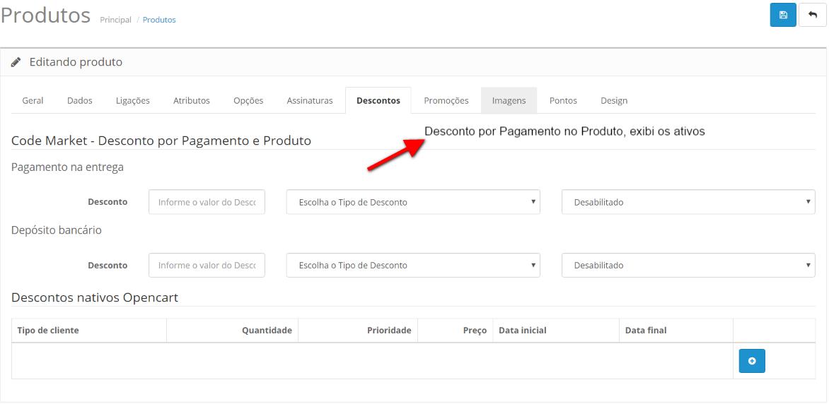 Desconto Premium - Forma de Pagamento, Produto e Quantidade para Opencart - Foto 2