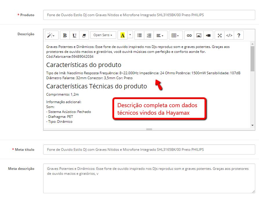 Integração Fornecedor Hayamax Premium - Importação de Produtos para Opencart - Foto 2