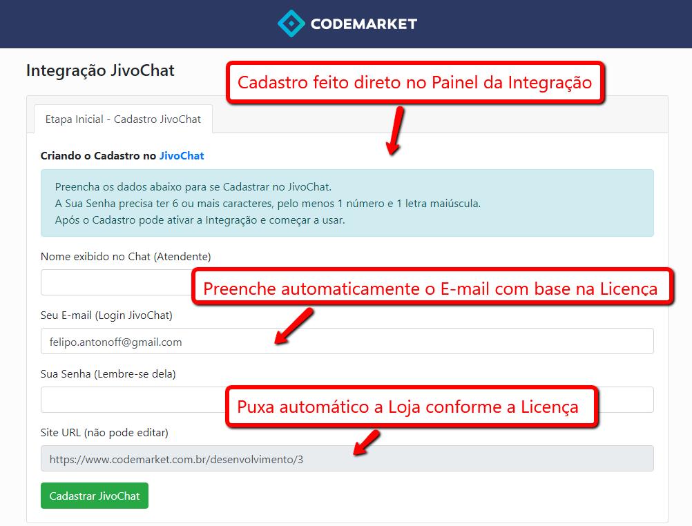 Integração JivoChat - Chat, E-mail, Telegram, Facebook, Viber.. - Opencart - Foto 1