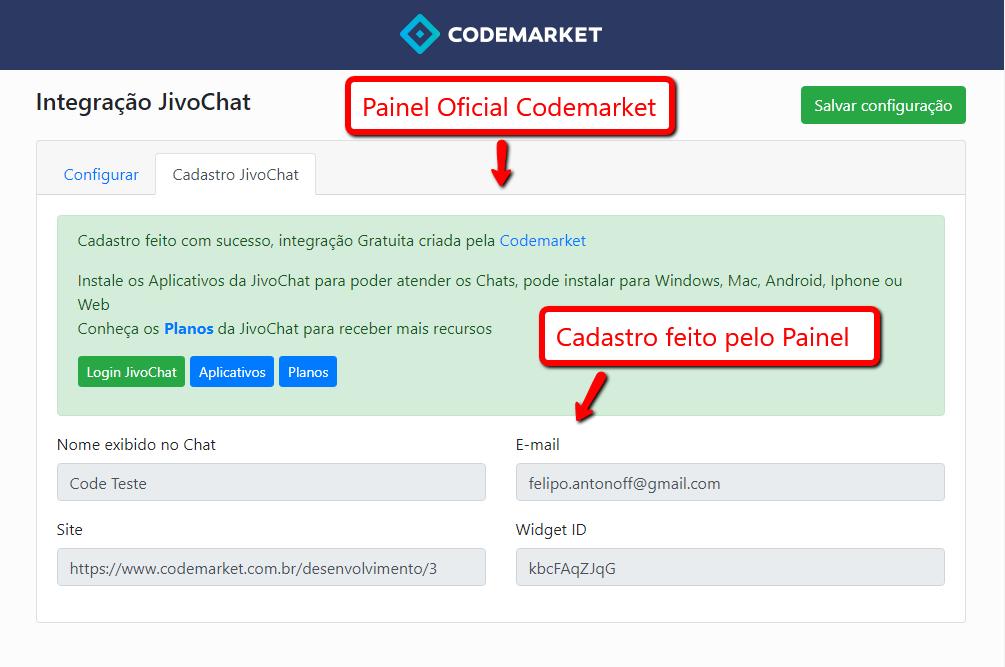 Integração JivoChat - Chat, E-mail, Telegram, Facebook, Viber.. - Opencart - Foto 2