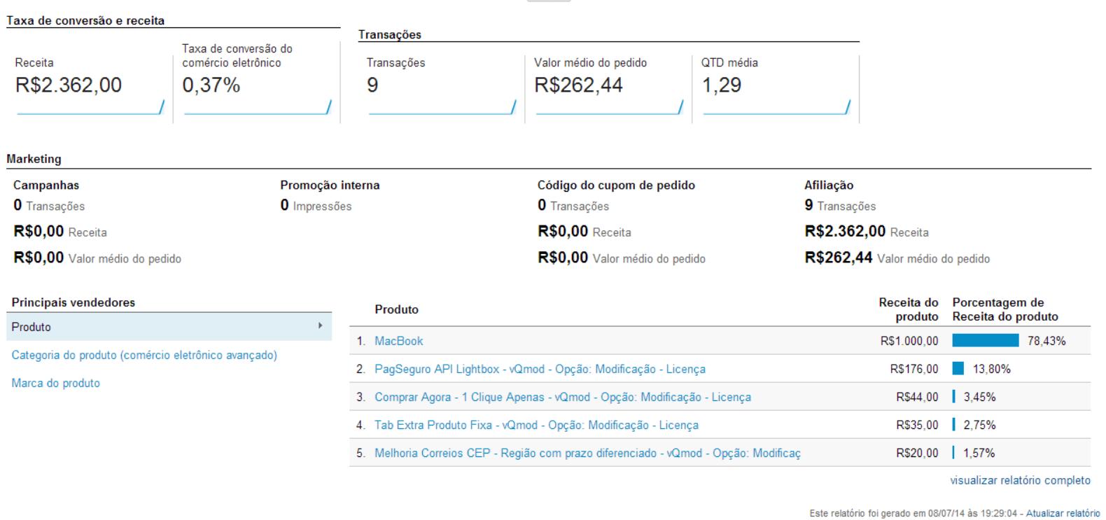 Google Universal Analytics Ecommerce para Opencart - Foto 7