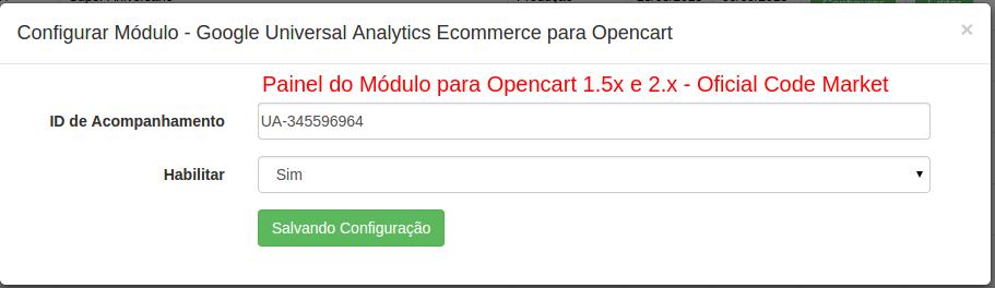 Google Universal Analytics Ecommerce para Opencart - Foto 8