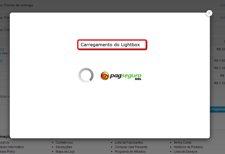 PagSeguro API Lightbox Premium para o Opencart - Foto 6