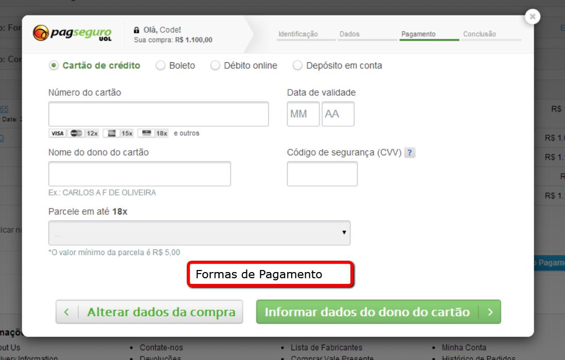 PagSeguro API Lightbox Premium para o Opencart - Foto 5