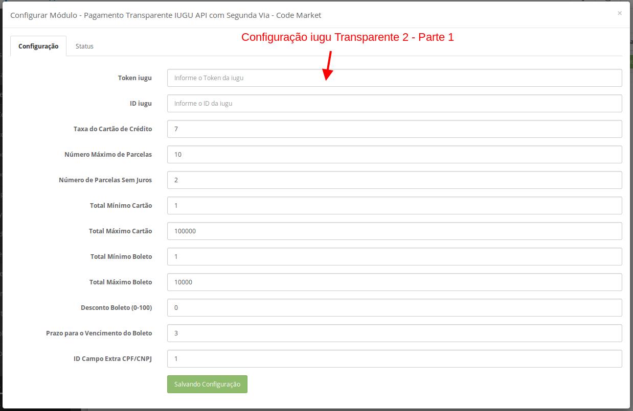 Pagamento Transparente IUGU API com Segunda Via para Opencart - Foto 5