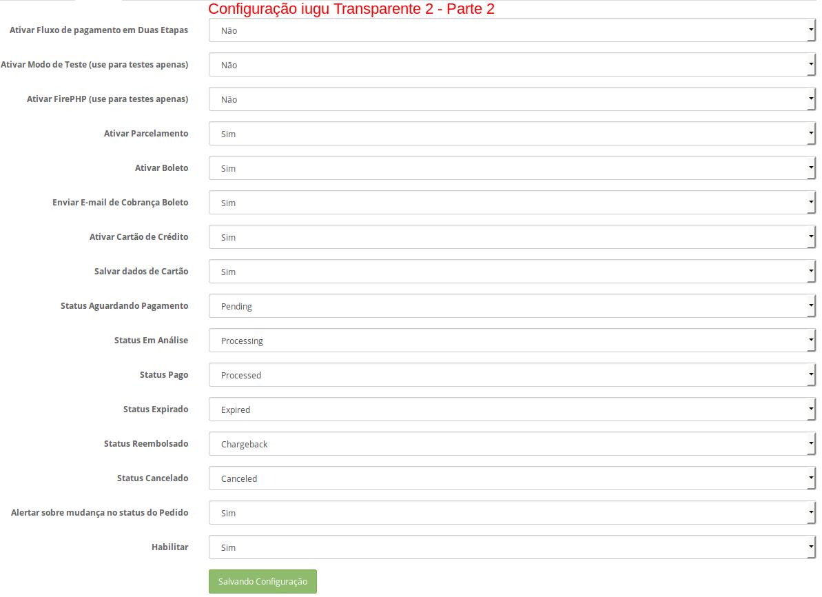 Pagamento Transparente IUGU API com Segunda Via para Opencart - Foto 7