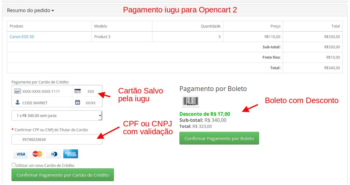 Pagamento Transparente IUGU API com Segunda Via para Opencart - Foto 3
