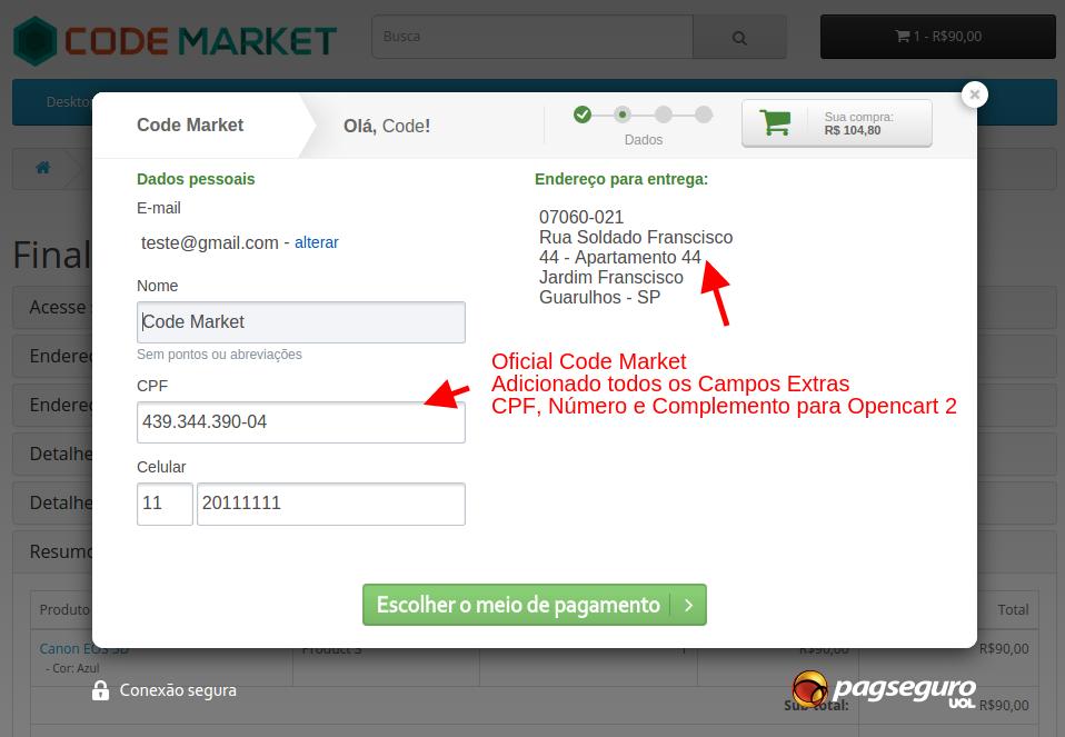 PagSeguro API Lightbox Premium para o Opencart - Foto 9