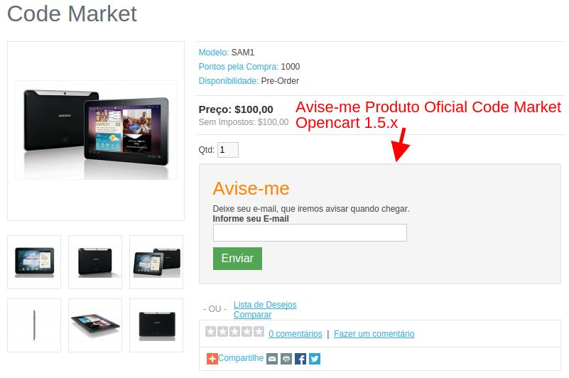 Avise-me sem Estoque Produto para Opencart - Foto 6