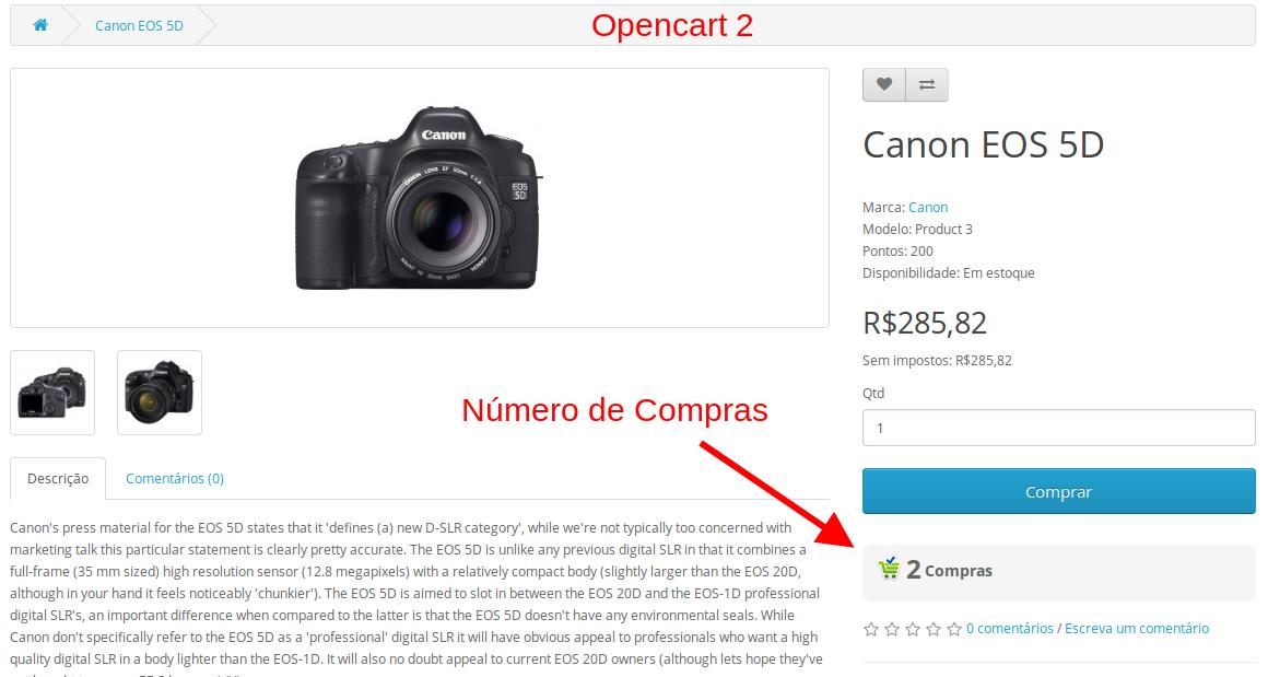 Quantidade Total de Compras de um Produto para Opencart - Foto 3