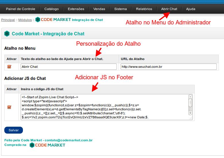 Integração de Chat - Zopim, Mibew, LiveChat, Snapengage, Live Helper Chat... - Foto 2