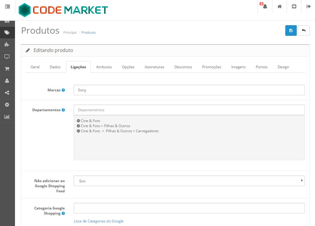 Integração para o Google Shopping e Merchant Center para Opencart - Foto 2