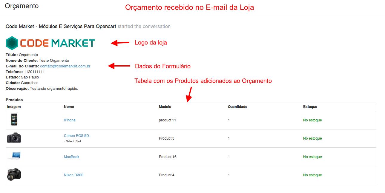 Orçamento Rápido Premium - 1 Página (One Page) para Opencart - Foto 10