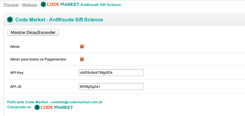 Antifraude Sift Science Completo para Opencart - Foto 2