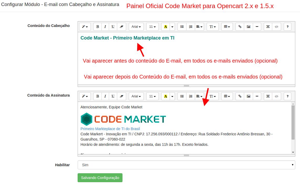 Customizar Emails Enviados pela Loja - Cabeçalho e Assinatura - Foto 2