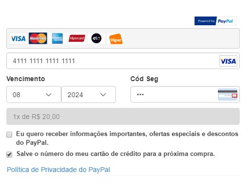 Pagamento Transparente Paypal Plus Premium para Opencart - Foto 1