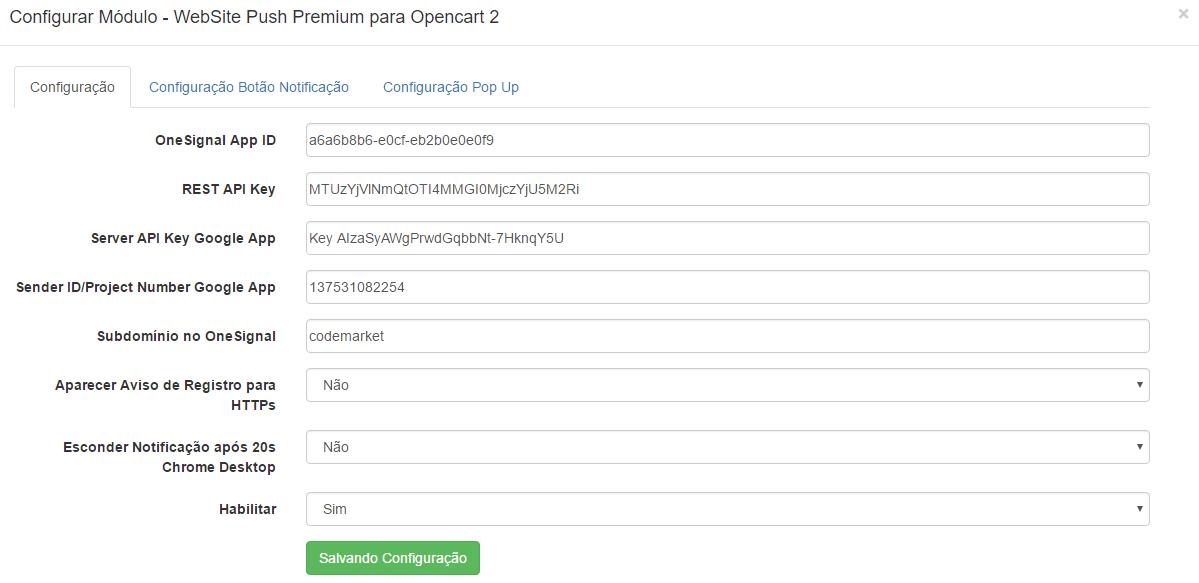 Website Push OneSignal Premium Opencart - Aumente suas conversões - Foto 1