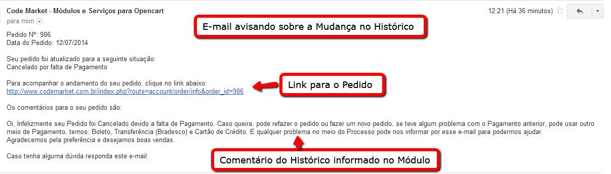 Informar e Cancelar Pedidos a X dias com o mesmo Status para Opencart - Foto 1