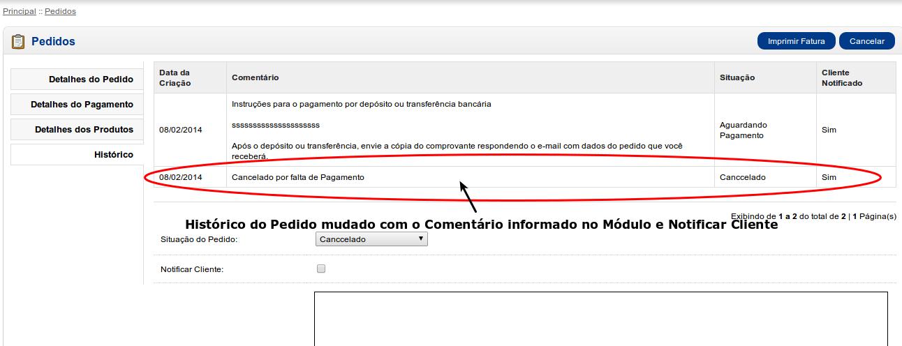 Informar e Cancelar Pedidos a X dias com o mesmo Status para Opencart - Foto 5
