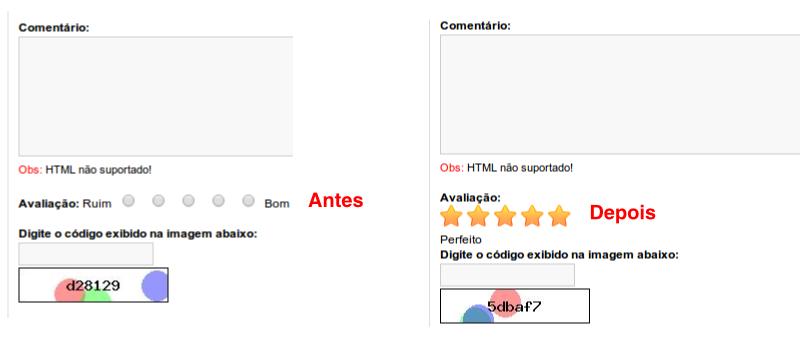 Avaliação (rating) com Estrela no Comentário do Produto para Opencart - Foto 2